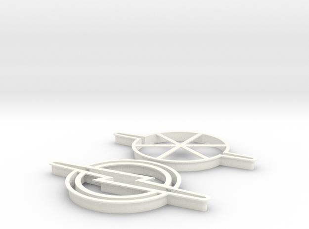 "Cookie Cutter ""Blitz"" in White Processed Versatile Plastic"