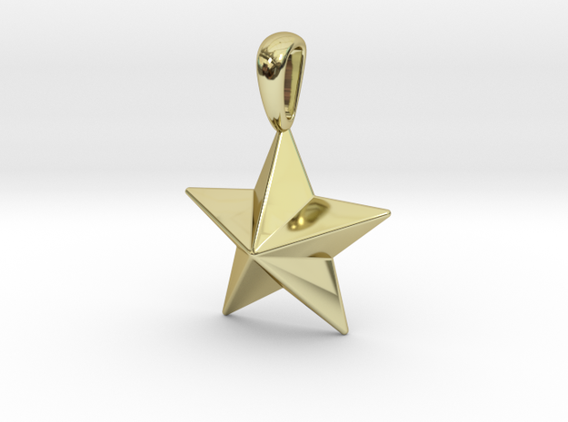 Star Pendant Necklace in 18k Gold Plated Brass