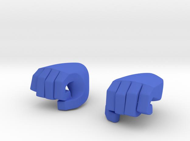 Hand type 4 in Blue Processed Versatile Plastic