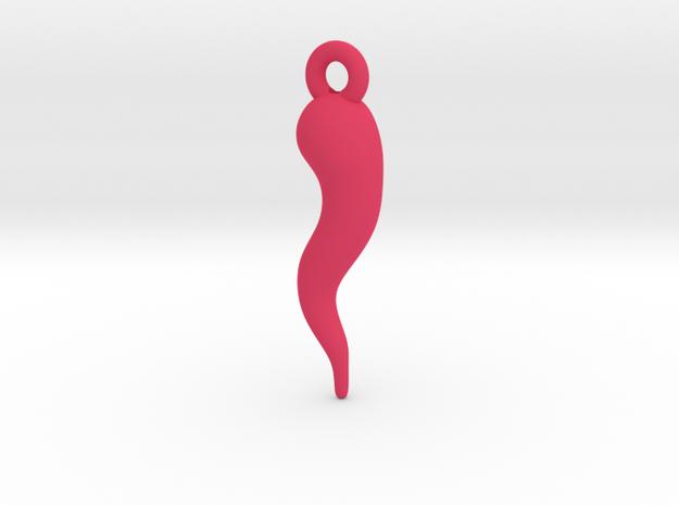 Cornicello V1 in Pink Processed Versatile Plastic
