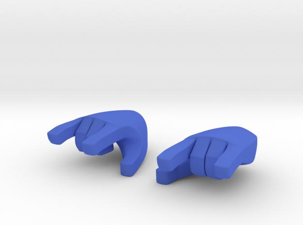Hand type 3 in Blue Processed Versatile Plastic