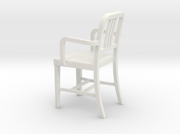 Miniature Alum Chair 2 1:18Scale (not full size) in White Natural Versatile Plastic