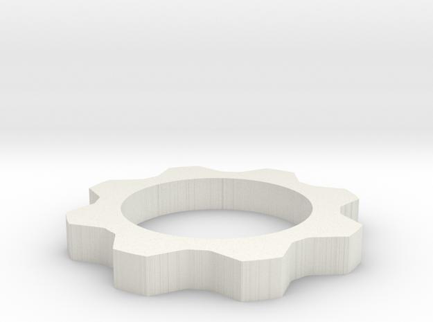 Gears of War COG  in White Natural Versatile Plastic