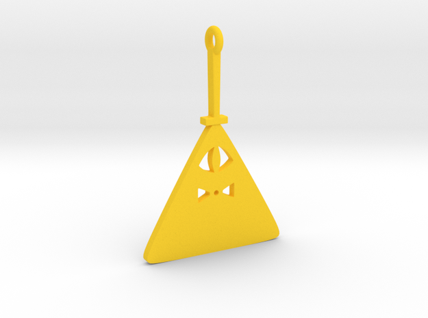 Bill Cipher in Yellow Processed Versatile Plastic