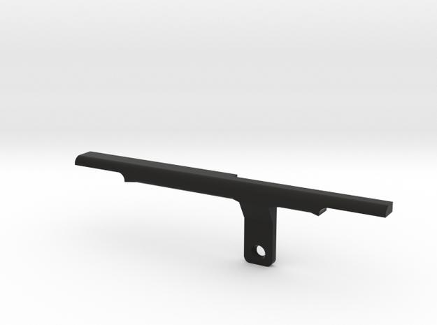 ThumbRail -Bridge-fits Fender Amer Dlx Jazz 4 in Black Natural Versatile Plastic