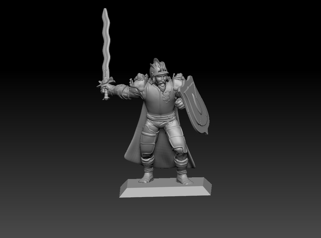 Human Knight 35mm Nº1 in Smooth Fine Detail Plastic