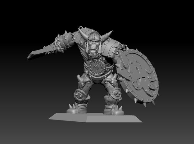 Orc Warrior 35mm Nº1 in Smooth Fine Detail Plastic