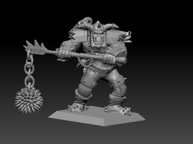 Orc Warrior 35mm Nº2 in Smooth Fine Detail Plastic