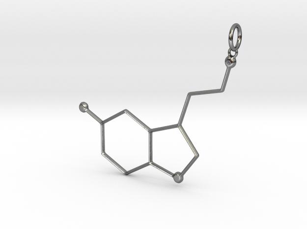 Serotonin Pendant in Polished Silver