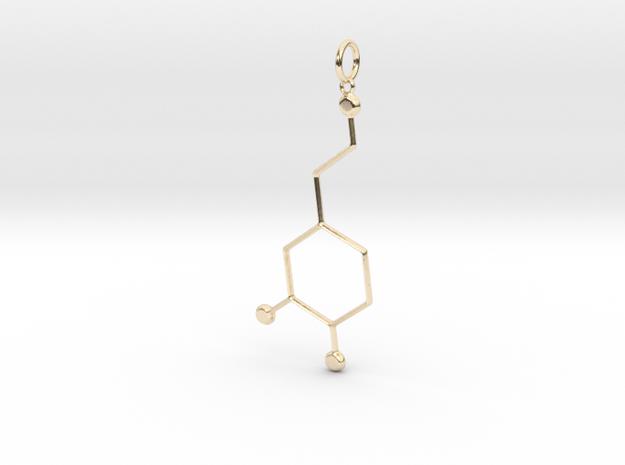 Dopamine Pendant in 14k Gold Plated Brass