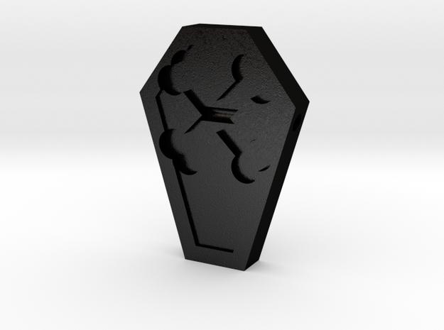 Coffin Pendant in Matte Black Steel