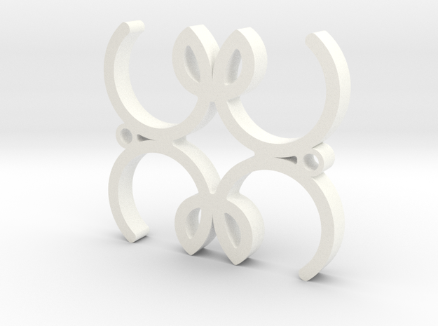 M4M2mm in White Strong & Flexible Polished