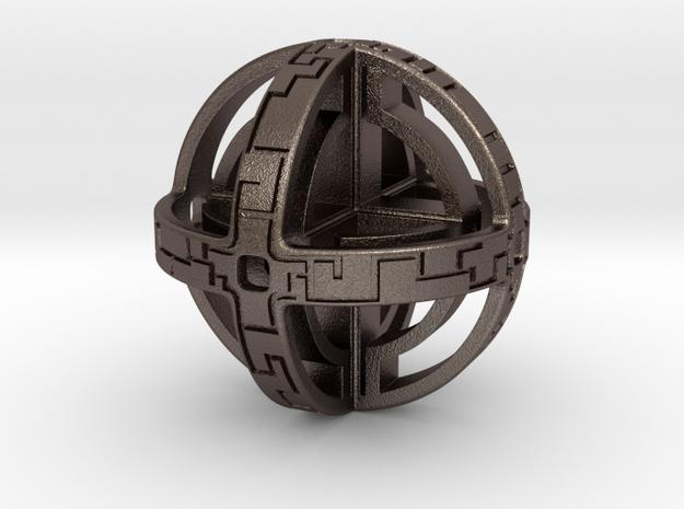 Sphere Key in Polished Bronzed Silver Steel