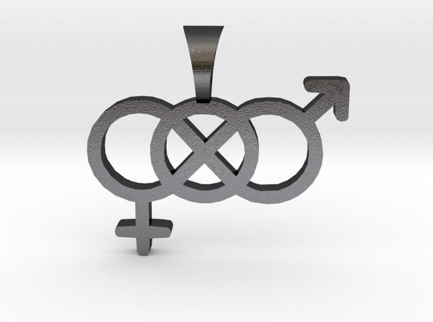 Smaller Genderfluid / Genderqueer Symbol Pendant