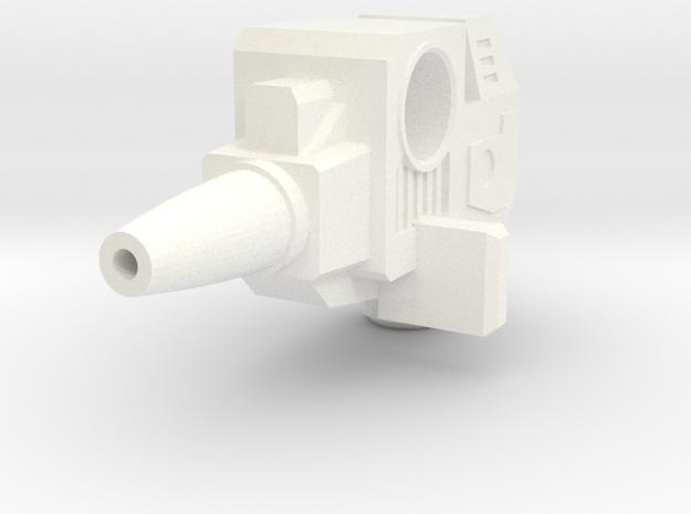 Override Weapon Parts in White Processed Versatile Plastic