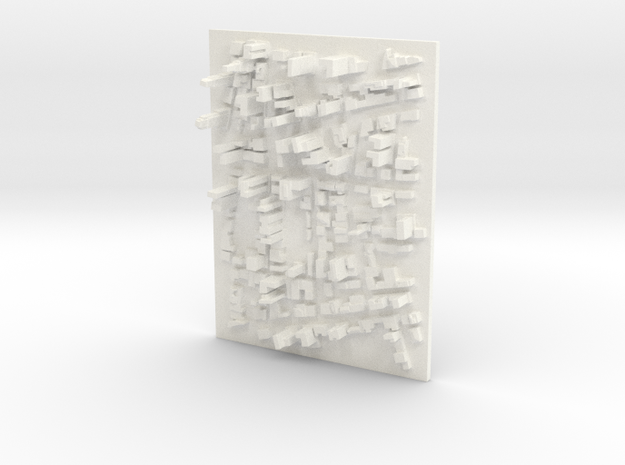 Large Desktop Cityscape in White Processed Versatile Plastic