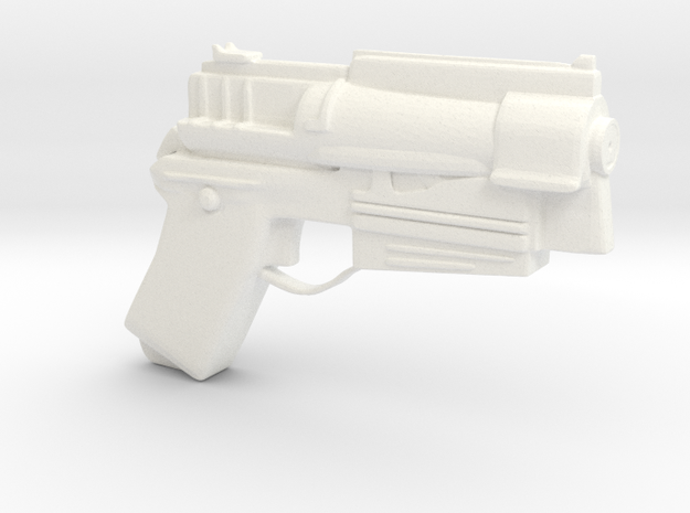 10mm Pistol based on Fallout 4 in White Processed Versatile Plastic