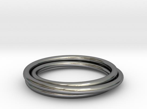 3ringspiral in Premium Silver
