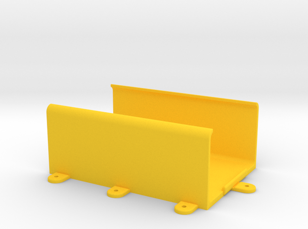 OMEX 600/200 ECU Holder - Clip-In Type - w/Feet in Yellow Processed Versatile Plastic