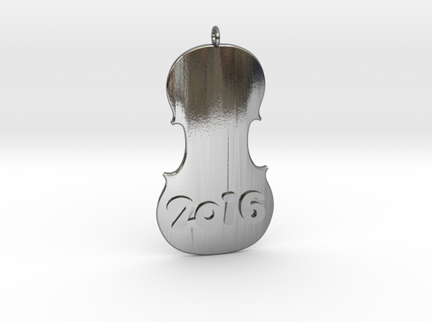 Happy Violin 2016 in Polished Silver