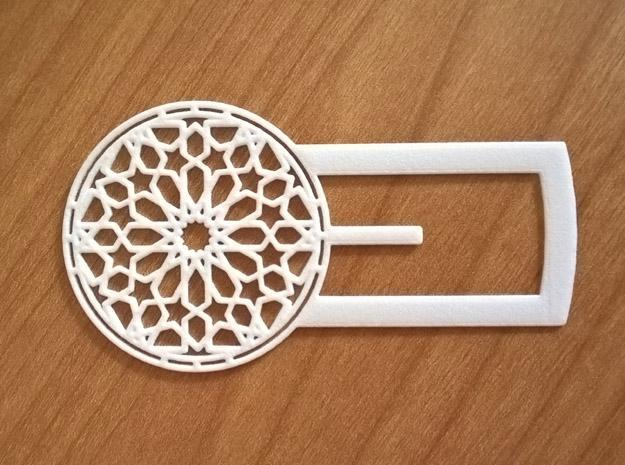 Mudejar Bookmark in White Strong & Flexible Polished
