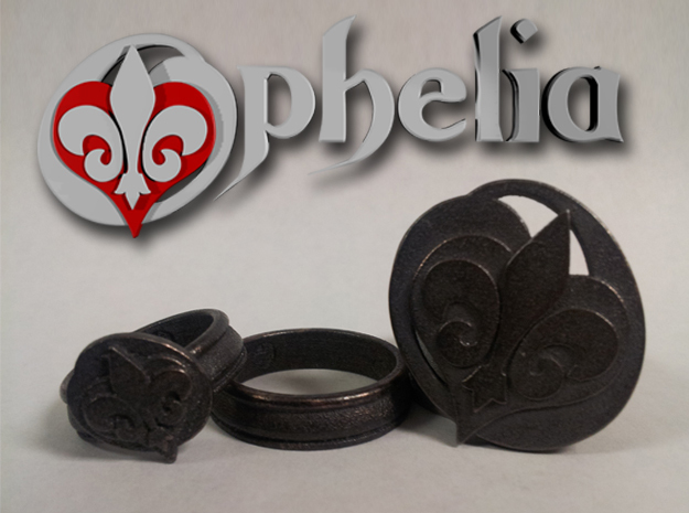 Ophelia Ring 1 - Select a Size in Polished Bronzed Silver Steel