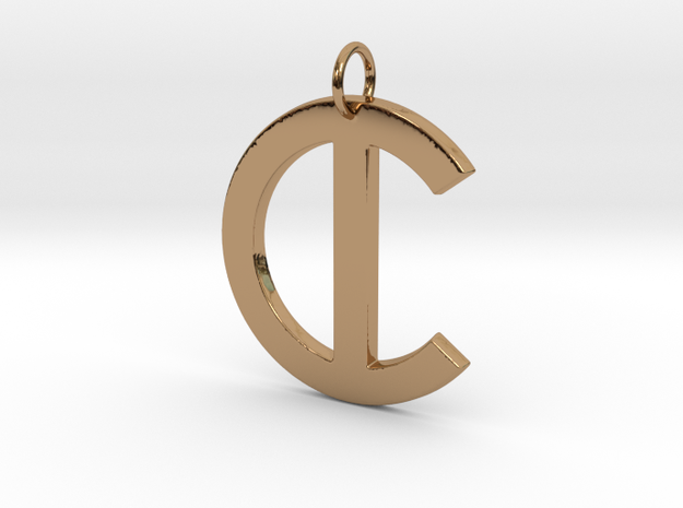 C in Polished Brass