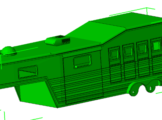 1/50th Bloomer type 28' Horse Trailer in Smooth Fine Detail Plastic
