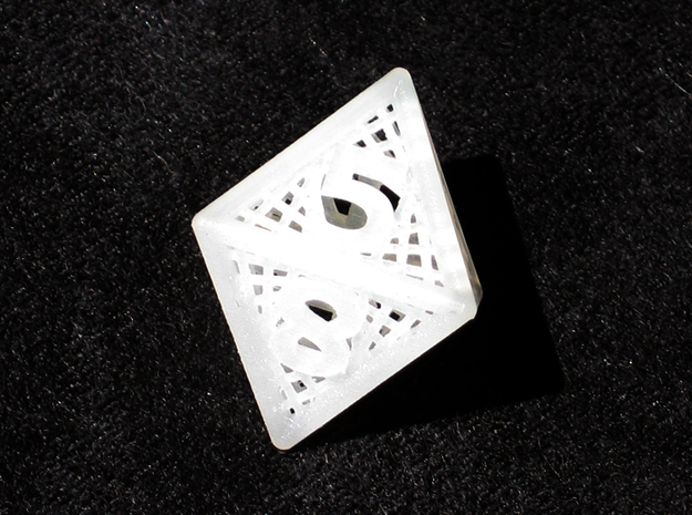 Woven Dice - Small 3d printed Eight sided die.