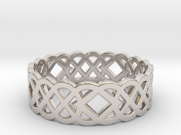 Size 10 Knot C4 in Rhodium Plated Brass