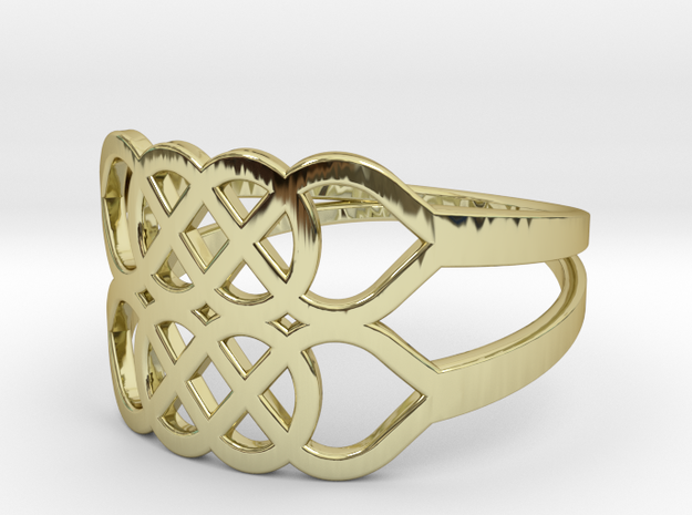 Size 7 Knot C5 in 18k Gold Plated Brass