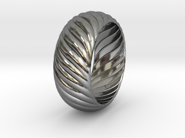 SPIRAL 1 SIZE 9.5 in Fine Detail Polished Silver