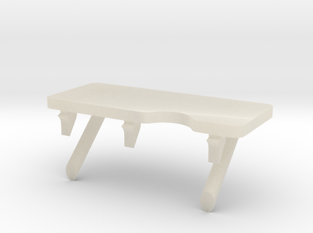 F08A-Unfolded Panel 6 Table in White Acrylic