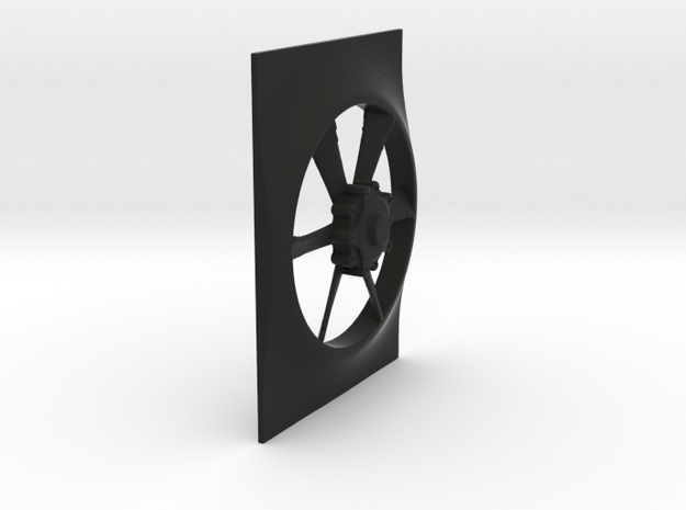 Fan And Shroud for Servo cover Radiator in Black Natural Versatile Plastic