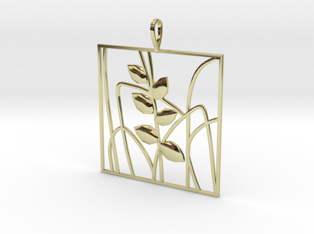 Plant and grass Alhendin pendant in 18k Gold Plated