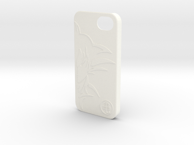 Dragon Ball Z - GOKU Case for iPhone 5 in White Processed Versatile Plastic