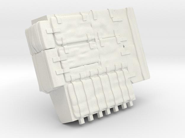 F14C-Left Bags in White Natural Versatile Plastic