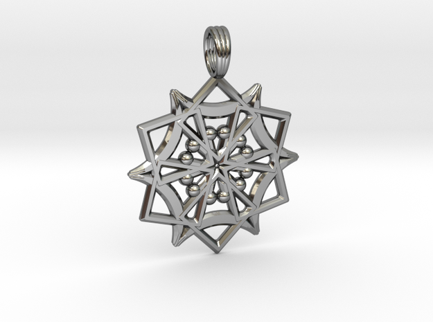 UTRON STAR in Fine Detail Polished Silver