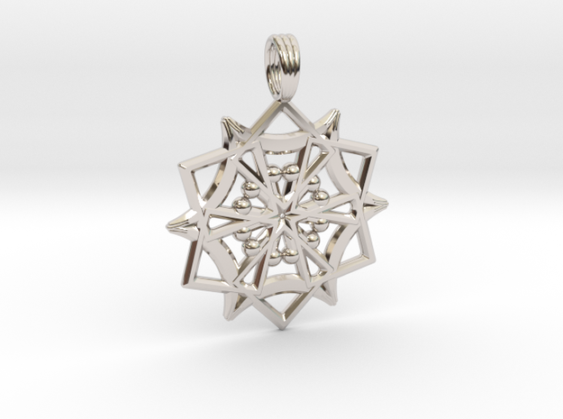 UTRON STAR in Rhodium Plated