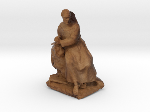 Sitting Sculpture from Art History Museum, 5cm in Full Color Sandstone
