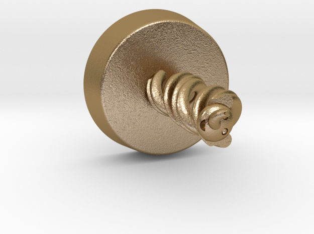 Elephant Helix in Polished Gold Steel