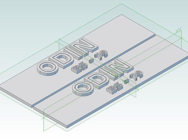 Odin Nameplate Package in Smoothest Fine Detail Plastic