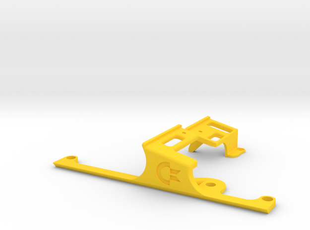 LONG Keyboard Mounts for Commodore 64c Cases in Yellow Processed Versatile Plastic