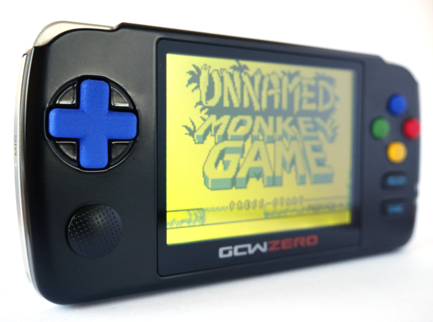 New GCW-Zero DPAD in Blue Processed Versatile Plastic
