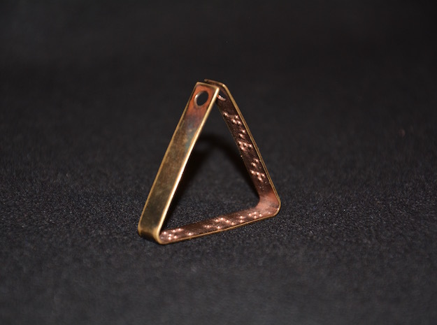 Braille Custom Message Triangle Pendant in 18k Gold Plated