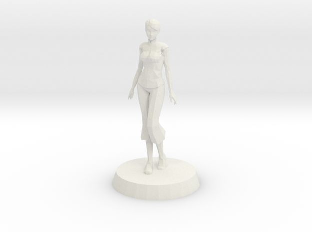 Girl - Standing in White Natural Versatile Plastic