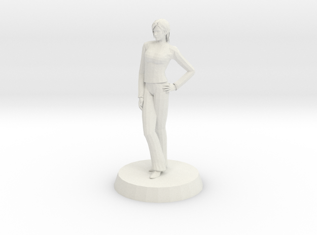 Woman - Standing Casually in White Natural Versatile Plastic