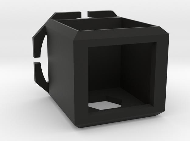 Cubed Camera Head-mount Case in Black Natural Versatile Plastic