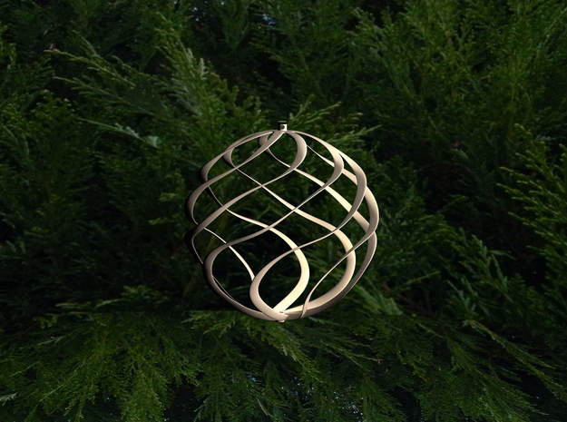 ornament for christmas tree in White Strong & Flexible Polished