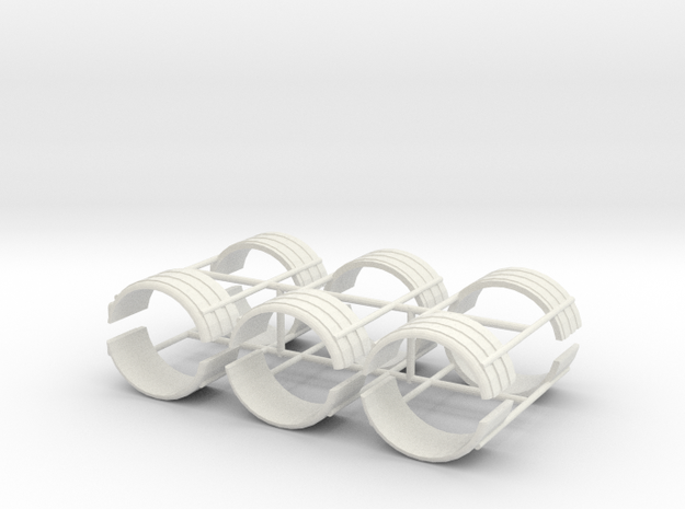 1/50th Dual Tire Fenders set of six